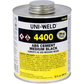 Oatey 4436S 4400 Series ABS Medium Black Cement 32 oz. - Pkg Qty 12