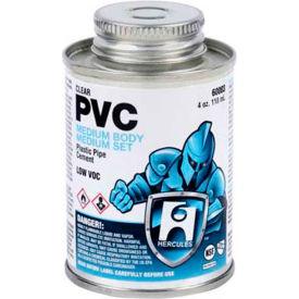 Hercules 60025 PVC - Clear, Medium Body, Medium Set Cement 1 gallon - Pkg Qty 6