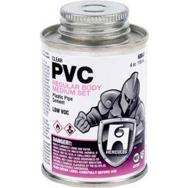 Hercules 60043 PVC - Clear, Regular Body, Medium Set Cement - Dauber In Cap 4 oz. - Pkg Qty 12