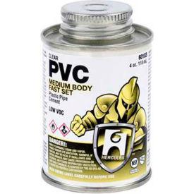 Hercules 60103 PVC - Clear, Medium Body, Fast Set Cement - Dauber In Cap 4 oz. - Pkg Qty 12