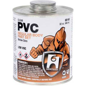 Hercules 60145 Below Zero Pvc - Clear, Regular Body, Fast Set Cement - Jumbo Dauber In Cap 16 oz. - Pkg Qty 12