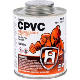 Hercules 60313 CPVC - Orange, Medium Body, Fast Set Cement - Dauber In Cap 8 oz. - Pkg Qty 12