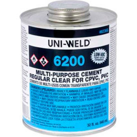 Oatey 6256S 6200 Series Multi Purpose Clear Cement 8 oz. - Pkg Qty 24