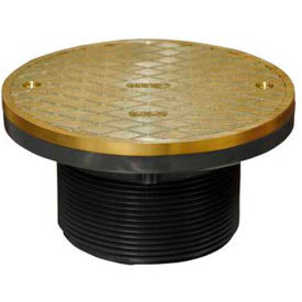 "Oatey 74140 Plastic Barrel Cleanout 6"" IPS Adjustable Barrel & 6"" Round Brass Cover & Square Ring"