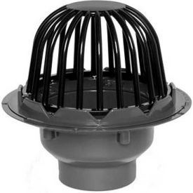 """Oatey 78023 3"""" or 4"""" PVC Roof Drain with Cast Iron Dome"""