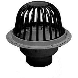 "Oatey 78046 6"" PVC Roof Drain with Cast Iron Dome & Dam Collar"