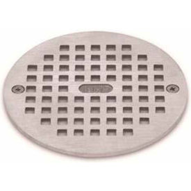 """Oatey 80070 5"""" Round Nickel Grate & Square Ring"""