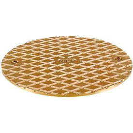 "Oatey 81140 6"" Round Cover & Square Ring, Brass"