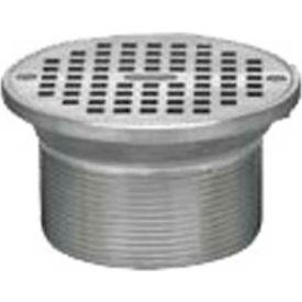 """Oatey 82330 6"""" Cast Nickel Round Barrel & Round Nickel Grate"""