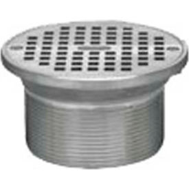 """Oatey 82390 6"""" Cast Brass Barrel With Round Heavy Duty Grate With Round Ring"""