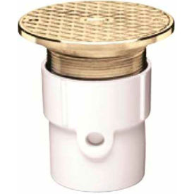 """Oatey 84218 4"""" ABS Pipe Base Adjustable General Purpose Cleanout w/ 6"""" Cast Brass Cover & Round Top"""