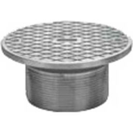 "Oatey 84220 6"" Cast Nickel Round Barrel w/Cleanout & Round Nickel Cover"