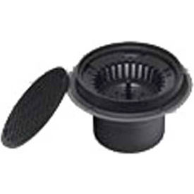 """Oatey 86023 3"""" or 4"""" ABS Sediment Drain, Plastic Grate without Bucket"""