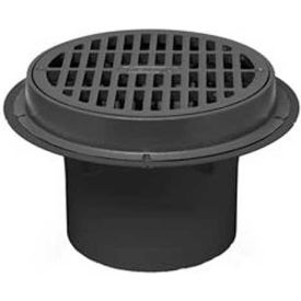 "Oatey 86034 4"" ABS Sediment Drain, Cast Iron Grate with Bucket"