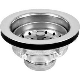 Oatey DB711BN Spin-N-Lock Sink Basket Strainer Chr. Plated Body, SS Screw-In Basket, Brass Nuts - Pkg Qty 24
