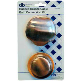Dearborn Brass K20 Plastic Tubular And Schedule 40 Cable Bath Waste Conversion Kit CHR Finish Trim - Pkg Qty 2