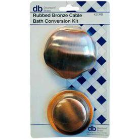 Dearborn Brass K20BN Plastic Tubular And Sch. 40 Cable Bath Waste Conversion Kit Nickel Finish Trim - Pkg Qty 2
