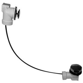 Dearborn Brass P7220BF Rough-In Kit, Schedule 40 PVC Cable Stopper w/ Chrome Finish Trim - Pkg Qty 20