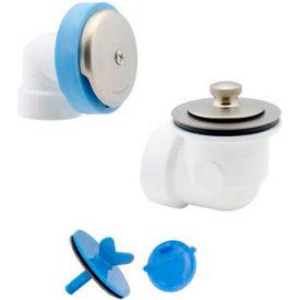 Dearborn Brass P7225 Schedule 40 Uni-Lift Full Kit Bath Waste PVC w/ Chrome Finish Trim - Pkg Qty 10