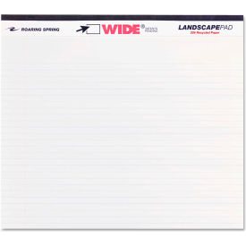 "Roaring Spring® Landscape Format Writing Pad 74500, 11"" x 9-1/2"", White, 40 Sheets/Pad, 1/Pack"