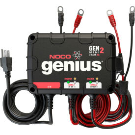 NOCO Genius 8 Amp 2-Bank Waterproof Onboard Battery Charger - GENM2