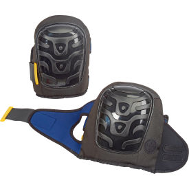 Premium Flat Cap Gel Knee Pads, Black