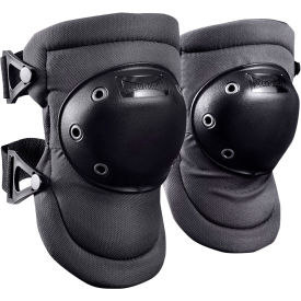 Contoured Hard Cap Knee Pad 225-D, 1 Pair, Small, Black