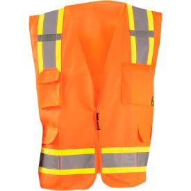 Value Solid Two-Tone Vest Class 2 Hi-Vis Orange S