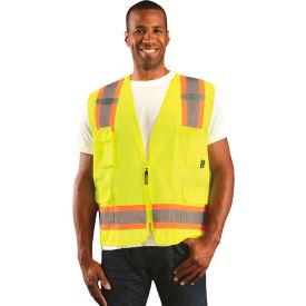 Value Solid Two-Tone Vest Class 2 Hi-Vis Yellow 2XL