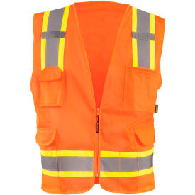 Value Mesh Two-Tone Vest Class 2 Hi-Vis Orange 3XL