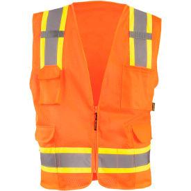Value Mesh Two-Tone Vest Class 2 Hi-Vis Orange S