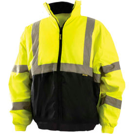 Value Bomber Jacket Class 3 Hi-Vis Yellow With Black Bottom S