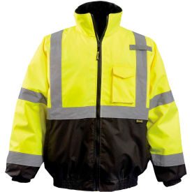 Quilted 2-in-1 Black Bottom Bomber Class 3 Hi-Vis Yellow L