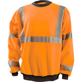 Crew Sweatshirt Hi-Vis Orange Large