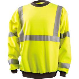 Crew Sweatshirt Hi-Vis Yellow Medium