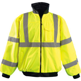 Hi-Vis Value Bomber Jacket, Hi-Vis Yellow, M
