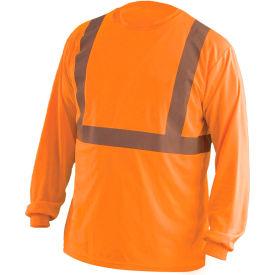 Long Sleeve Wicking T-Shirt Class 2 Hi-Vis Orange 4XL
