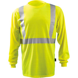 Premium Long-Sleeve Wicking T-Shirt, Hi-Vis Yellow, 5XL