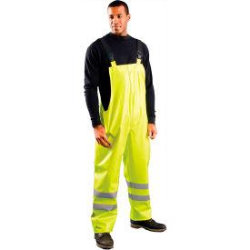 OccuNomix Class E Premium Flame Resistant Rain Bib Pants HRC2, Yellow, 5XL