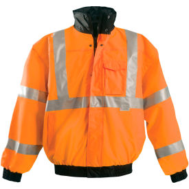 Premium Original Bomber Jacket, Hi-Vis Orange XL