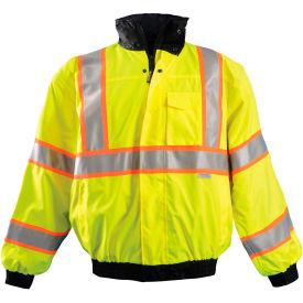 Premium Two-Tone Bomber Jacket, Hi-Vis Yellow, S