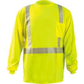 Long Sleeve T-Shirt Segmented Tape Hi-Vis Yellow Small