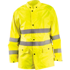 Breathable Rain Jacket Class 3 Hi-Vis Yellow XL