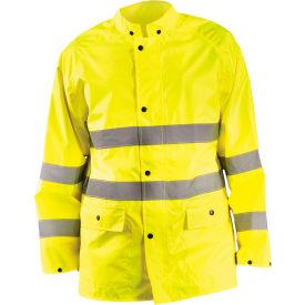 Breathable Rain Jacket Class 3 Hi-Vis Yellow XL
