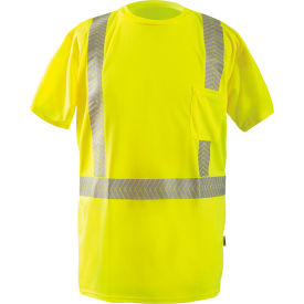Short SleeveT-Shirt Segmented Tape Hi-Vis Yellow Large