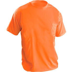 Short Sleeve Wicking Birdseye T-Shirt With Pocket Hi-Vis Orange 3XL