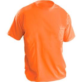 Short Sleeve Wicking Birdseye T-Shirt With Pocket Hi-Vis Orange S