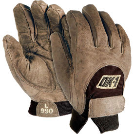 OccuNomix Anti-Vibration Premium Curve Technology Work Gloves, Brown, L, 1 Pair by