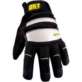 Occunomix OK-IG300-B-13 Waterproof Winter Protection Glove, Black/Reflective, M