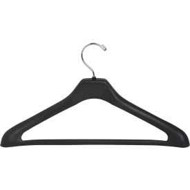 "Lorell® Suit Hanger, 17"" Width, Black,  Pack of 24"